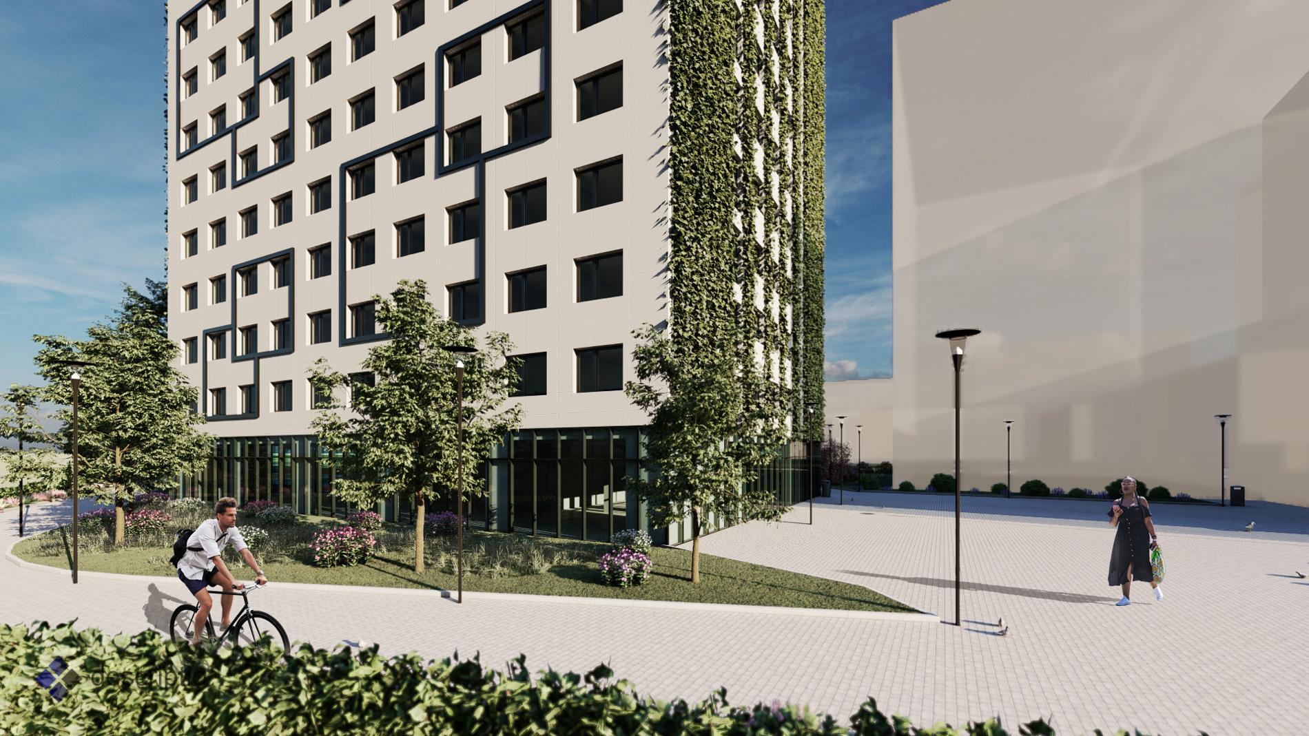 1100 Wien, Konzept-Bebauung eines Baufelds eines Bauloses